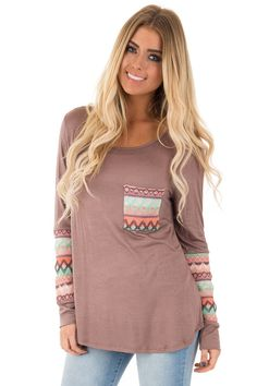 e07ab66702e Lime Lush Boutique - Coco Long Sleeve Tee with Mint Embroidered Detail,  $39.99 (https