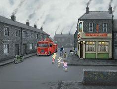 False Alarm by Leigh Lambert Leigh Lambert, Selling Art, Urban Landscape, Newcastle, Mother Of The Bride, Folk Art, Childhood, England, Street View