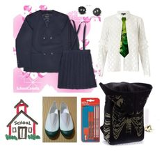 """something weird"" by rewolf71 ❤ liked on Polyvore featuring Parker, Miss Selfridge and school"