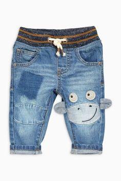 Denim Monkey Character Jeans (3mths-6yrs)