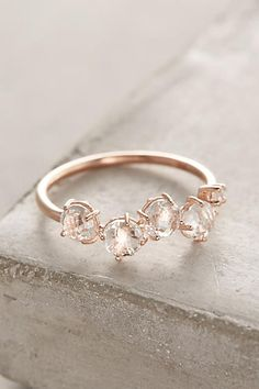 14k Gold Gemstone Bar Ring - anthropologie.com