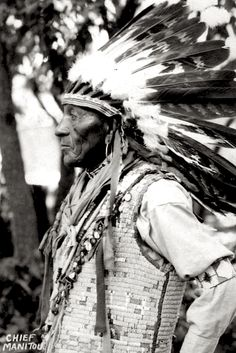 Chief Manitou. Utah. ca. 1900. Source - Utah State University. Chief Manitou, born Pedro Cejete, was a Tewa man who entertained visitors to the Manitou Cliff Dwellings, Manitou Springs, Colorado, in the early 20th century. No mere tourist attraction, Manitou himself used the railroad to explore the West, and met with President Taft to discuss Native American concerns, as recounted in Robert Cronk's pictorial history of the man, Outbound Journey