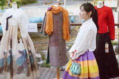 마을축제 폭포동 음악회 바느질풍경 한복도 전시하고 있습니다  #은평뉴타운 #바느질풍경 #한복 #김복희