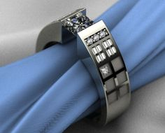 TARDIS-Themed Engagement Ring  I laughed out loud when I saw this... and then I actually considered it for a second... lol