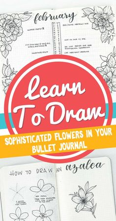 Learn to draw sophistical flowers in your bullet journal! Make any bullet journal layout beautiful with these helpful planner doodle tutorials. Lots of great bullet journal ideas for stunning setups and spreads.
