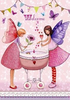 Welcome girl Artist Illustration by www.MilaMarquis.com and www.Facebook.com/MilaMarquisillustration