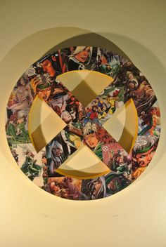 X-Men Symbol Wall Plaque (made to order) on Etsy, $45.00