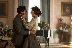 Los actores Ben Miles y Vanessa Kirby interpretan a Peter Townsend y a la princesa Margarita en The Crown.