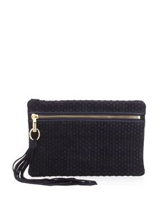 Scott+Woven+Suede+Clutch+Bag,+Navy+by+Elizabeth+and+James+at+Neiman+Marcus.