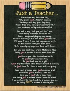 Just a teacher school poems for teachers учитель, школа и Teacher Appreciation Week, Teacher Humor, Teacher Hacks, Teacher Resources, Teacher Sayings, Thank A Teacher Quotes, Teacher Morale, Staff Morale, Funny Teacher Poems