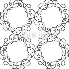 Flourish Swirl Wreath Repeating Pattern by Galyna Tymonko at patterndesigns.com Vector Pattern, Pattern Design, Monochrome Pattern, Repeating Patterns, Flourish, Swirls, Your Design, Wreaths, Shapes