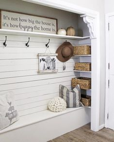 The entry is the first peek visitors get of your house—and for you to toss your things. Check out these BEST entryway ideas for a welcoming and organized space. decor for small spaces Best Entryway Ideas for Small Spaces Home Renovation, Home Remodeling, Home Projects, Living Room Designs, Living Rooms, Mud Rooms, Home Furniture, Furniture Quotes, Furniture Buyers