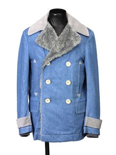 sacai:デニムPコート(ボアライナー)(BLUE) [Why are you here?] 2013AW