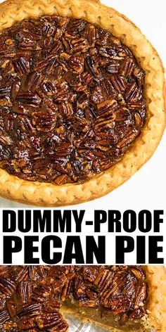 PECAN PIE RECIPE- Best quick easy classic old fashioned dessert Crispy crust with ooey gooey pecan filling This homemade Southern old fashioned pie requires simple ingredients and is the best Thanksgiving dessert Can also add chocolate and bourbon From Easy Pie Recipes, Quick Easy Desserts, Desserts For A Crowd, Pecan Recipes, Köstliche Desserts, Dessert Recipes, Recipes With Pecans, Sausage Recipes, Snack Recipes