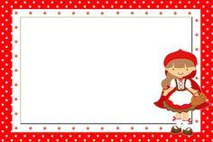 Moldura Convite e Cartão Chapeuzinho Vermelho