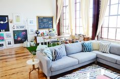 Living and workspace in an Oakland loft