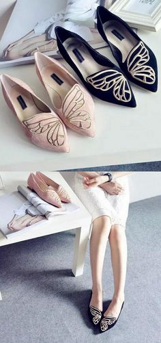 Butterfly pointed toe flats - so fun!