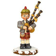Winterkinder Dudelsackspieler (7,5cm) von Hubrig Volkskunst