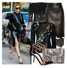 """""""Olivia Palermo"""" by justadream133 ❤ liked on Polyvore featuring Alexis, Mason by Michelle Mason, Fendi, Proenza Schouler, Gianvito Rossi and OliviaPalermo"""