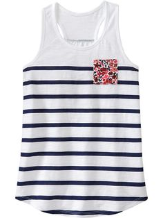Old Navy | Girls Pocket Slub Tanks