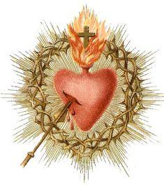 The Devotion to the Sacred Heart Of Jesus. Catholic Art, Religious Art, Catholic Beliefs, Christianity, Jesus E Maria, Vintage Holy Cards, Religious Pictures, Religion, Heart Of Jesus