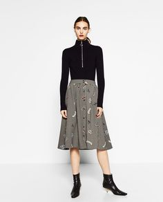CHECKED SKIRT-View all-SKIRTS-WOMAN | ZARA United States