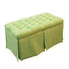 Magical Harmony Kids Tufted Toy Box - Minky Green