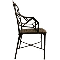 Set of Six Brown Jordan Cast Aluminum Faux Bamboo Dining Chairs | From a unique collection of antique and modern dining room chairs at https://www.1stdibs.com/furniture/seating/dining-room-chairs/