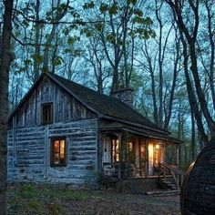 What story could you write while looking at this little cabin in the country?