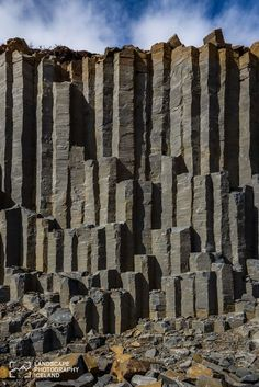 Basalt columns, the wall.Iceland