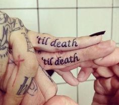 Couple Finger Tattoos