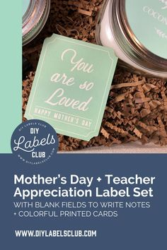 If you're lost as to what to get your mom and teacher for Mother's Day and Teacher Appreciation Day this year then head over to DIY Label Club's blog to find a list of the best DIY tutorials and a link to the most perfect gift tags and labels. Check out the blog post and start putting together a special gift basket for your mom and teacher. Diy Holiday Gifts, Teacher Christmas Gifts, Unique Christmas Gifts, Holiday Crafts, Diy Label, Diy Gifts For Mothers, Homemade Essential Oils, Homemade Spices, Diy Videos