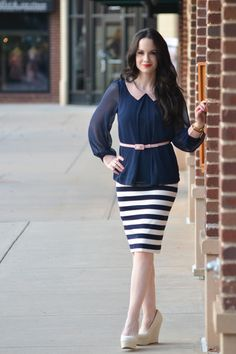 blouse with some stripes