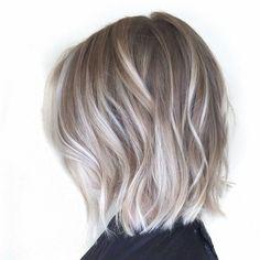 Medium length ash blonde