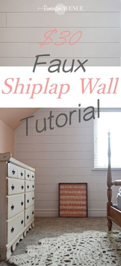 Southern Home Interior Faux shiplap wall tutorial.Southern Home Interior Faux shiplap wall tutorial Home Remodeling Diy, Home Renovation, Easy Home Decor, Cheap Home Decor, Diy Casa, Faux Shiplap, Shiplap Diy, Up House, Farm House