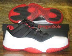 purchase cheap 1a74f 88889 Air Jordan XI Youth Big Boy Low White Black True Red 528895 110 Air Jordan 9