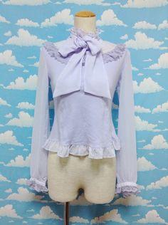 Airy Bow Tie Cutsew in Lavender from Angelic Pretty - Lolita Desu