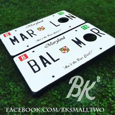Maryland License Plate Themed Cornhole Boards with Bags
