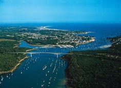 Cornouaille : Estuaire de l'Odet et pont de Cornouaille