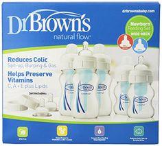 Dr. Brown's Natural Flow Newborn Feeding Set, Wide Neck