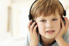 boy taking hearing test