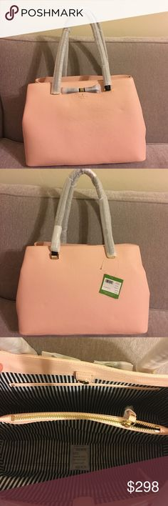 """Kate spade Henderson street purse Kate spade Henderson street purse. NWT. 10.5""""h x 15""""w x 5.5""""d. Magnetic clasp. Three compartments, middle one is zippered kate spade Bags"""
