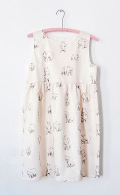 Bears Print Dress for the little creatures