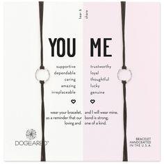 Dogeared You & Me Friendship Bracelets, Set of 2 (258640 PYG) ❤ liked on Polyvore featuring jewelry, bracelets, black, dogeared jewelry and friendship bracelet
