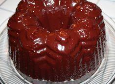 Chocolate-Raspberry Balsamic Glazed Olive Oil Bundt Cake