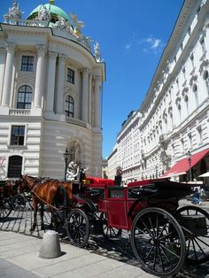 Red Carriage Vienna, by Taylor Dundee