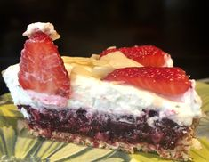 Tarte fruits rouges coco Cheesecake, Cooking, Desserts, Recipes, Food, Sliced Almonds, Fresh Fruit, Dates, Coconut Cream