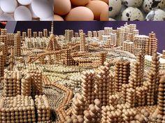 Lindos trabalhos com ovos | Minilua