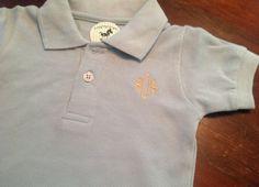 Monogrammed Baby Boy Collared Onesie on Etsy, $20.00