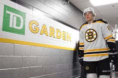 MARCH 7: David Pastrnak #88 of the Boston Bruins walks to the ice for warm ups before the game against the Philadelphia Flyers at the TD Garden